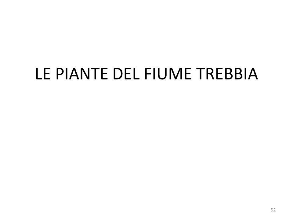 LE PIANTE DEL FIUME TREBBIA