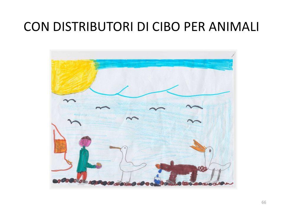 CON DISTRIBUTORI DI CIBO PER ANIMALI
