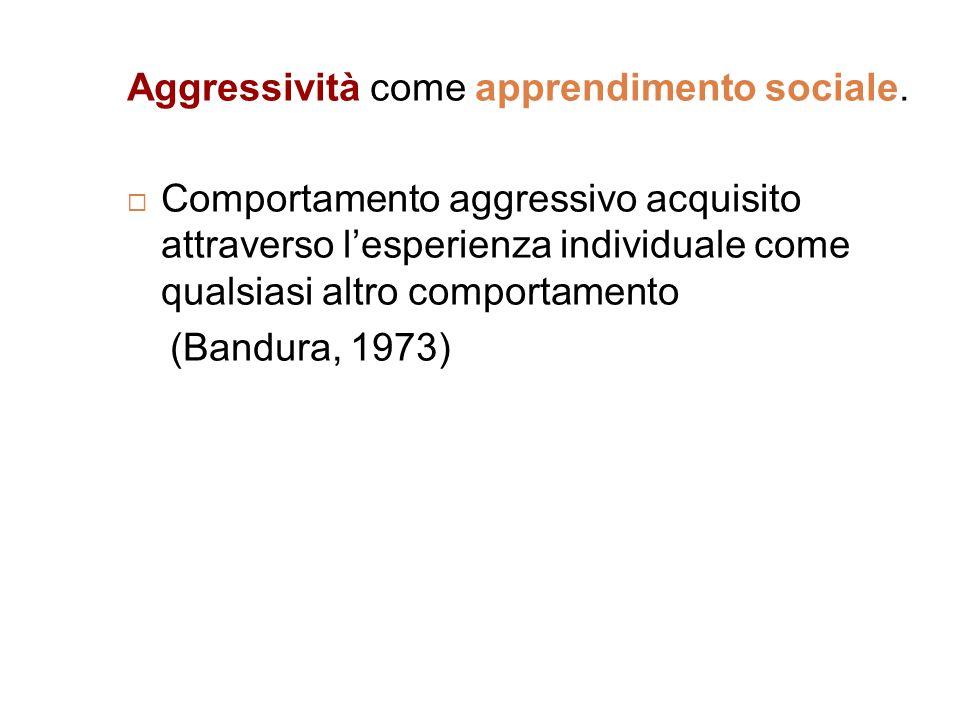Aggressività come apprendimento sociale.