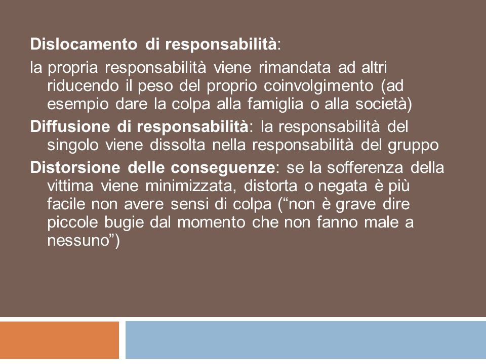 Dislocamento di responsabilità: