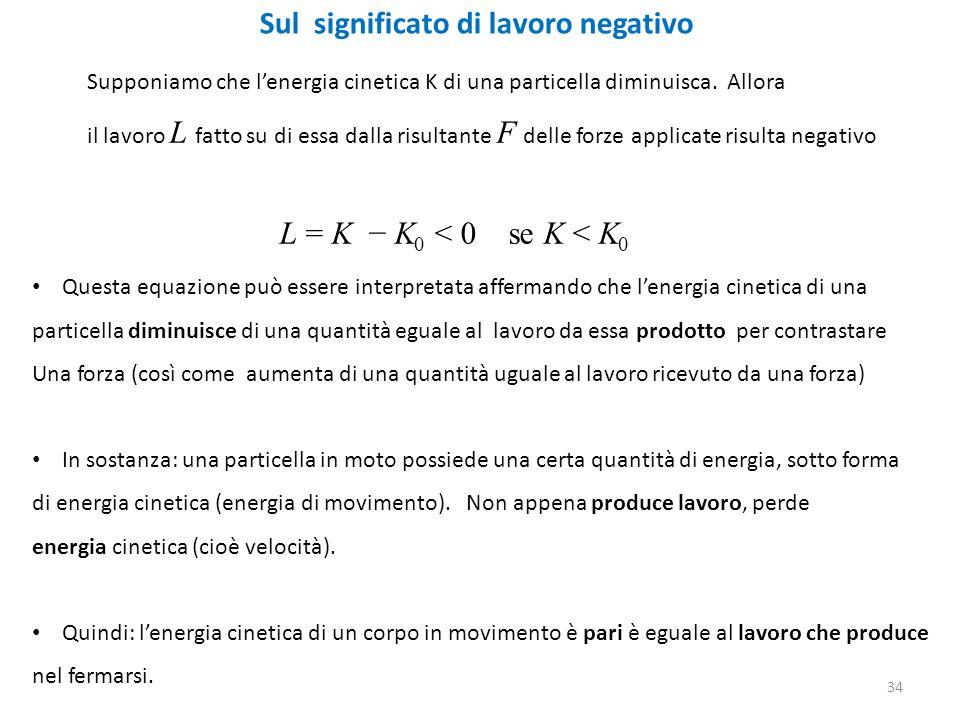 Sul significato di lavoro negativo