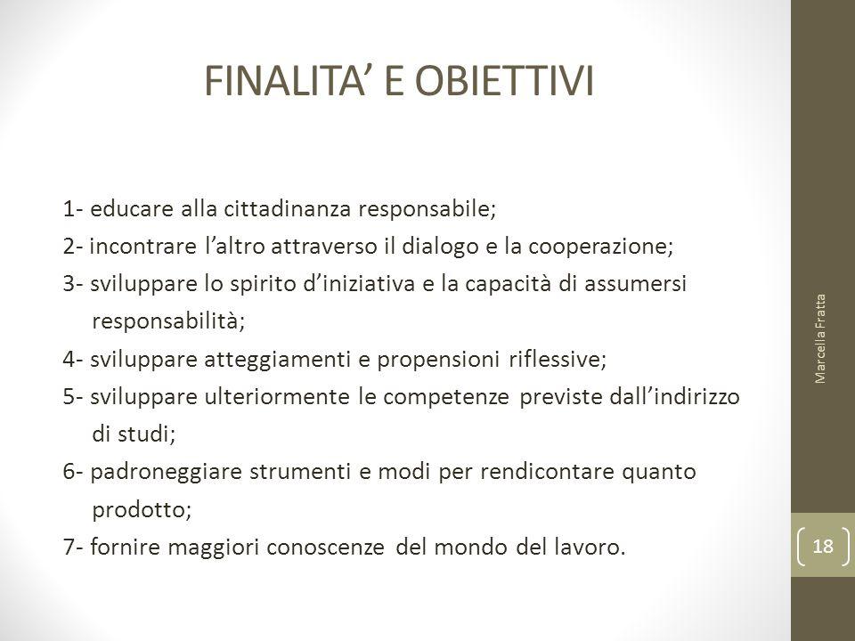 FINALITA' E OBIETTIVI 1- educare alla cittadinanza responsabile;