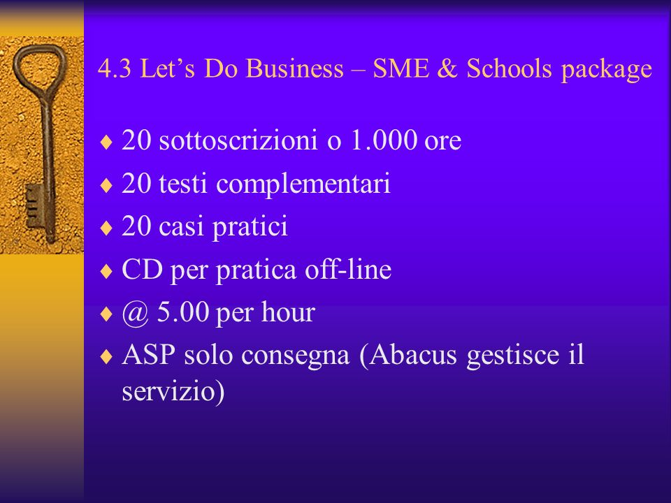 4.3 Let's Do Business – SME & Schools package