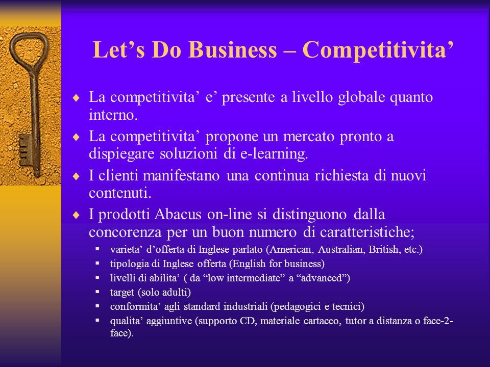 Let's Do Business – Competitivita'