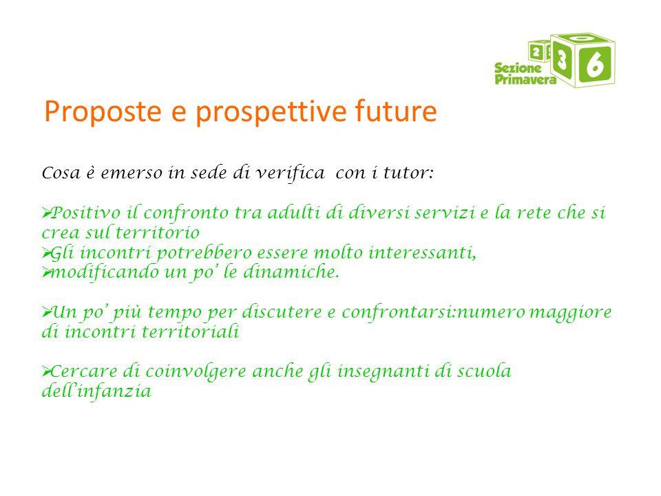Proposte e prospettive future