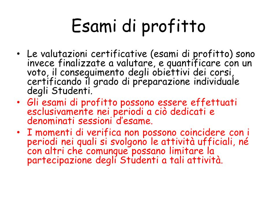 Esami di profitto