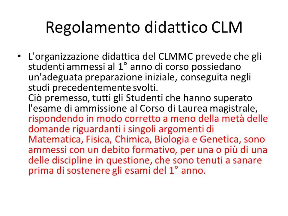Regolamento didattico CLM