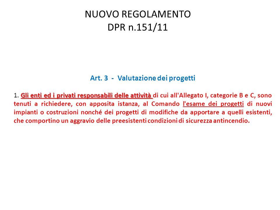 Art. 3 - Valutazione dei progetti