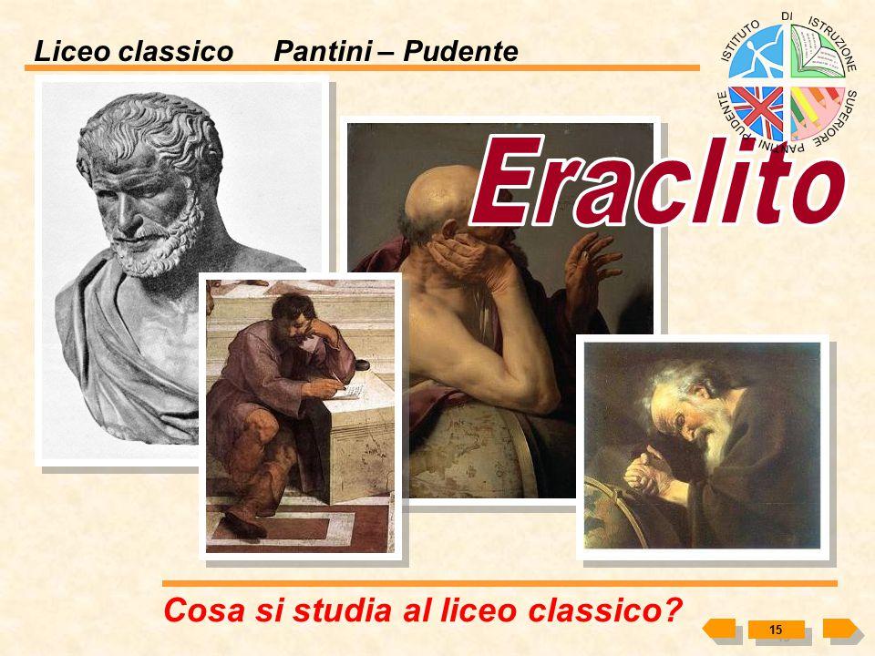 Eraclito Cosa si studia al liceo classico