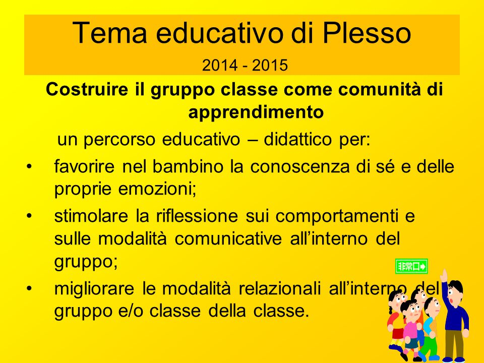 Tema educativo di Plesso 2014 - 2015