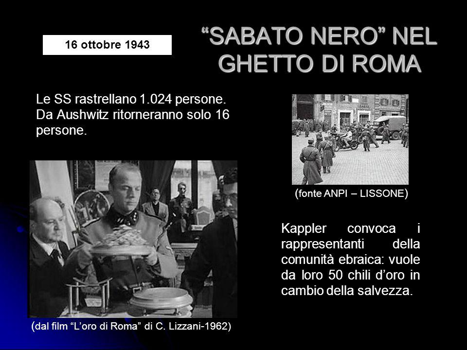 SABATO NERO NEL GHETTO DI ROMA