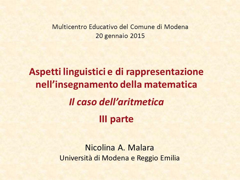 Multicentro Educativo del Comune di Modena 20 gennaio 2015