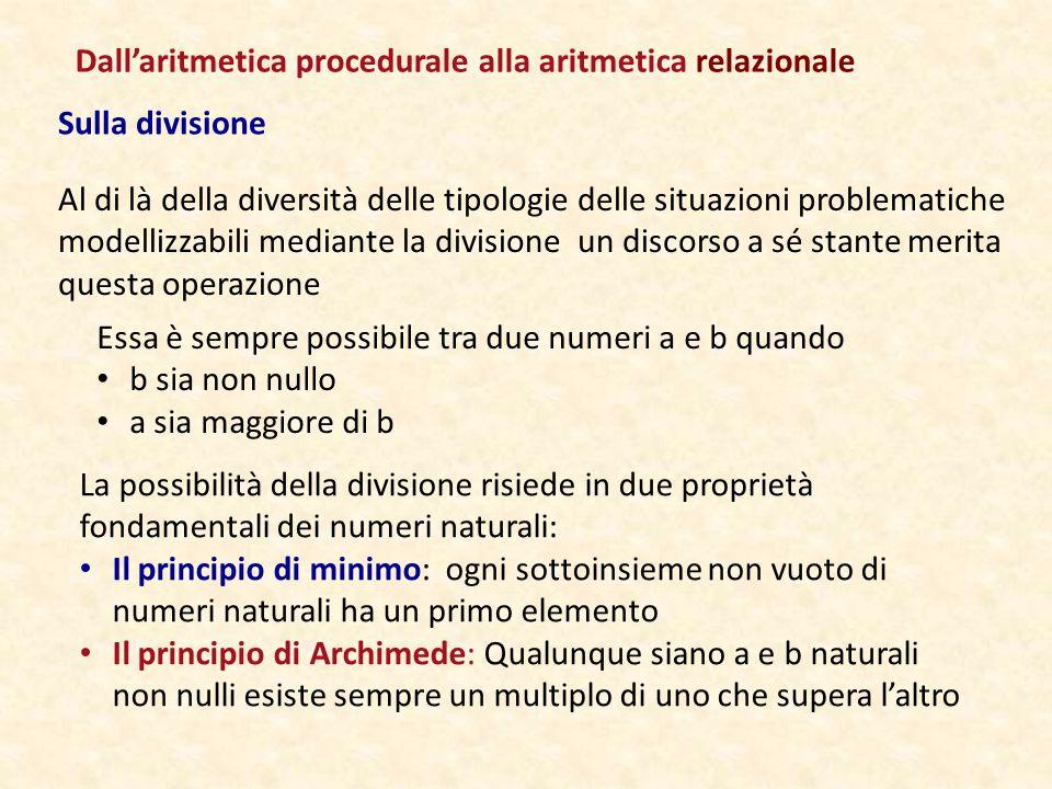 Dall'aritmetica procedurale alla aritmetica relazionale