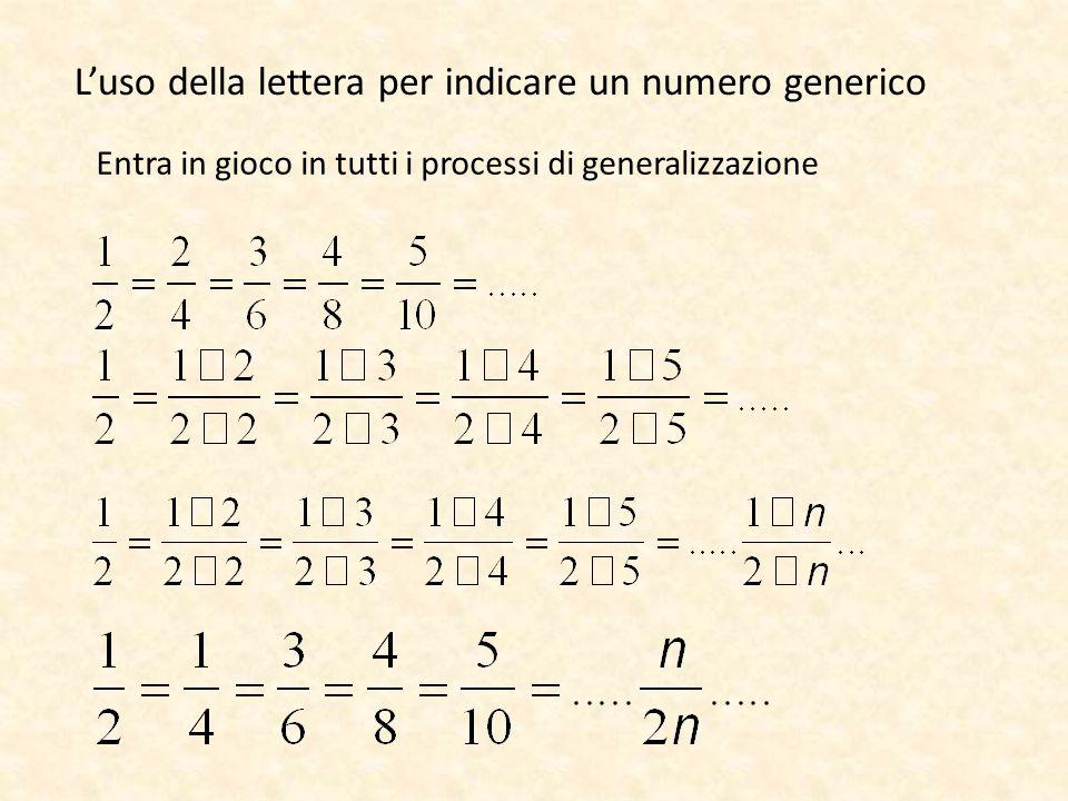 L'uso della lettera per indicare un numero generico