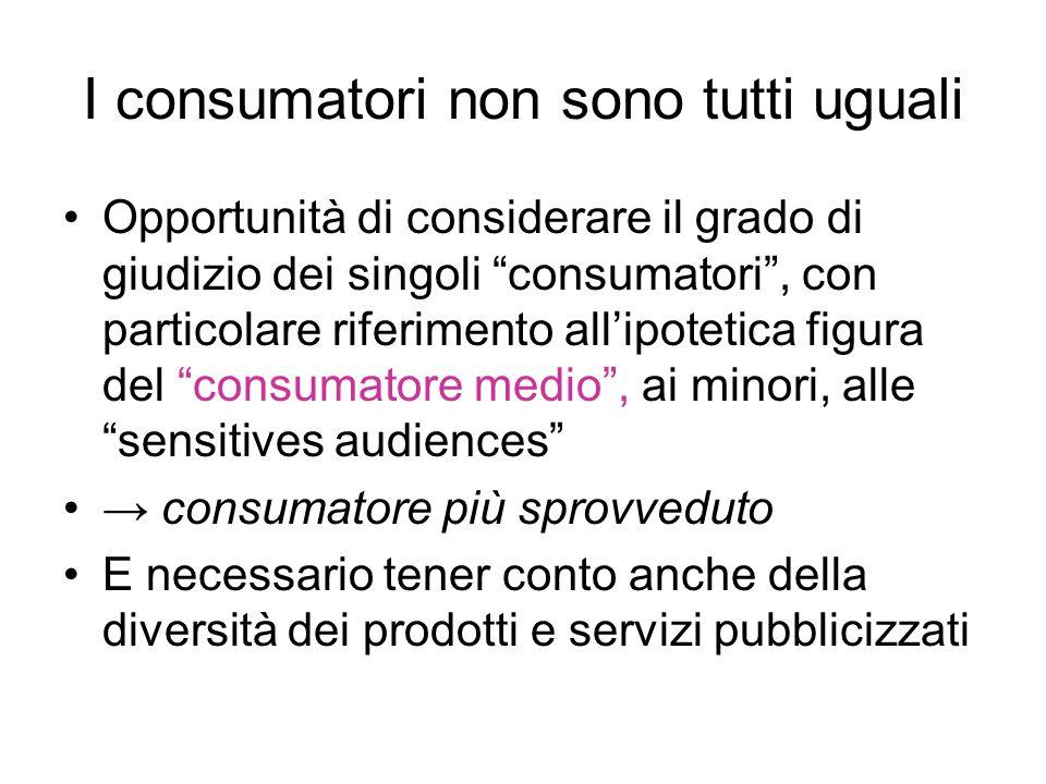 I consumatori non sono tutti uguali