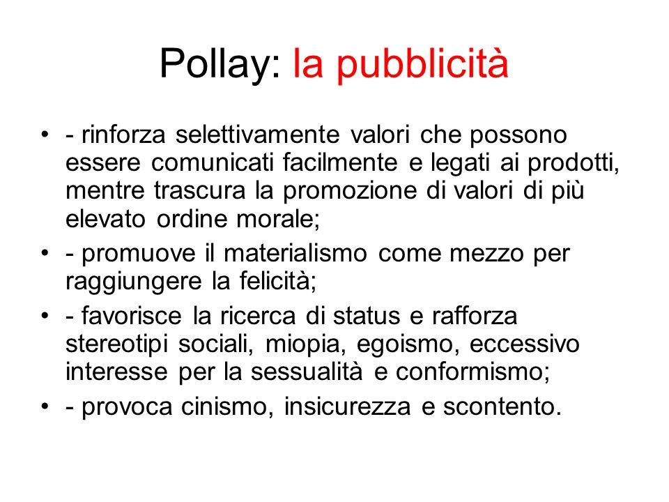Pollay: la pubblicità