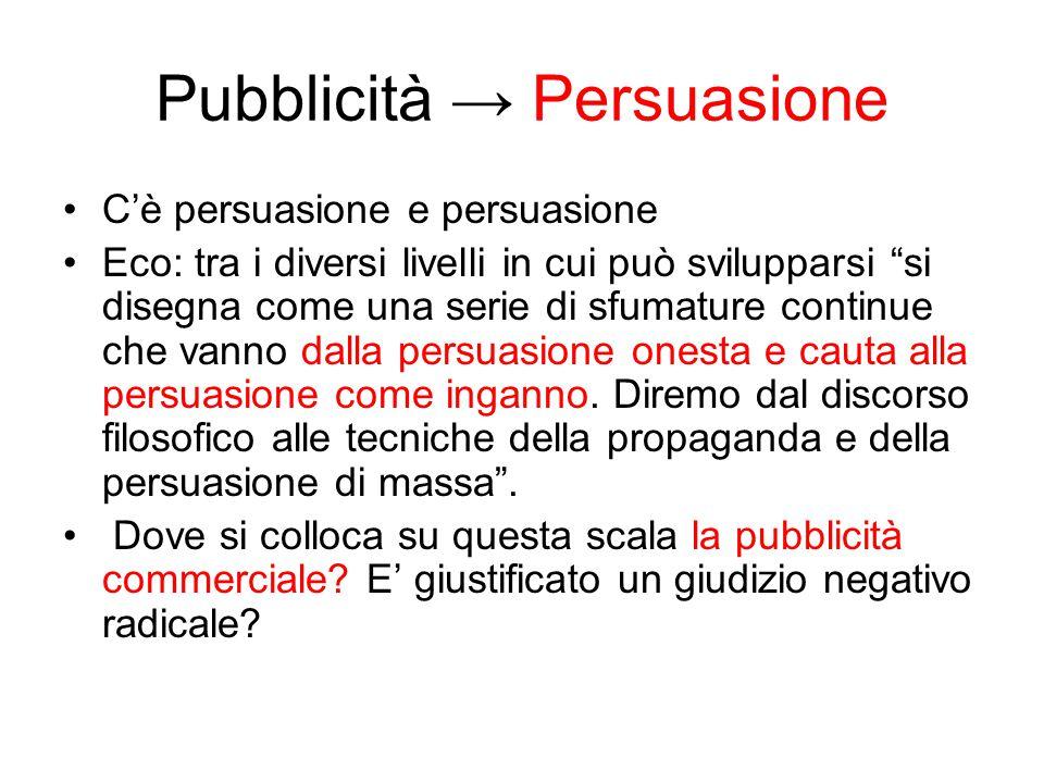 Pubblicità → Persuasione