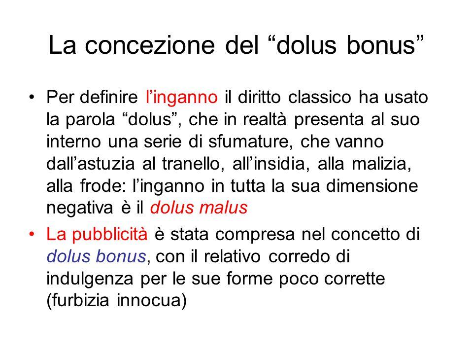 La concezione del dolus bonus