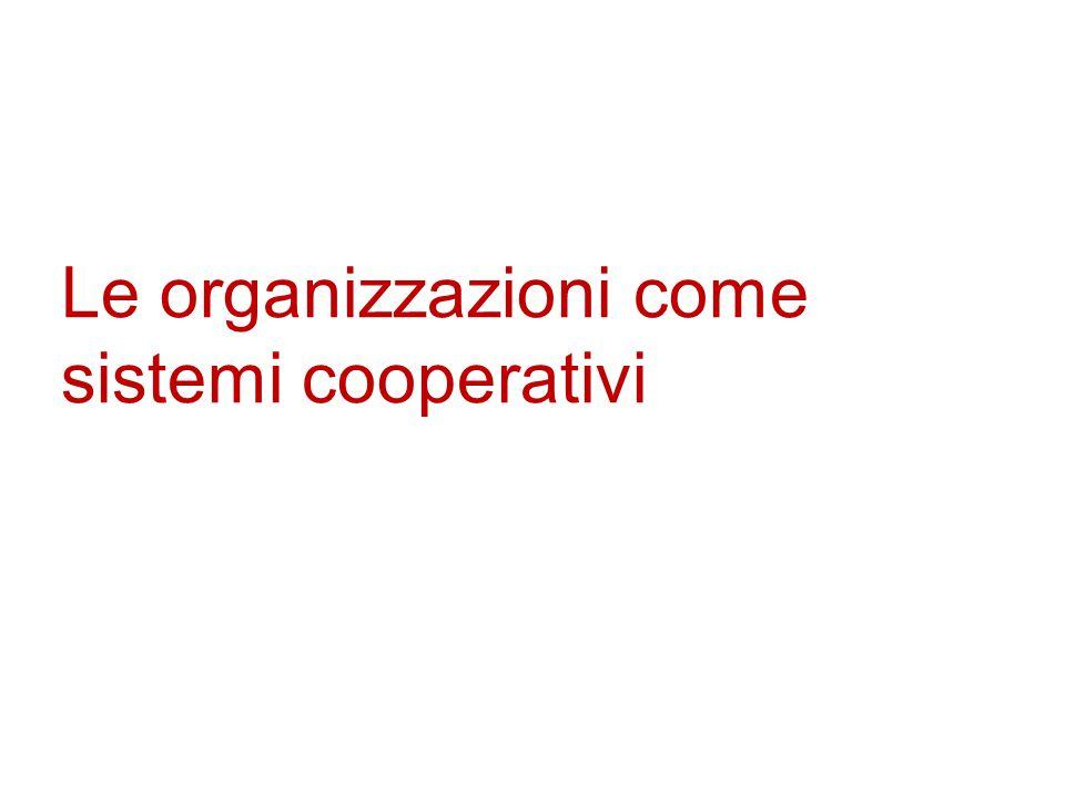 Le organizzazioni come sistemi cooperativi