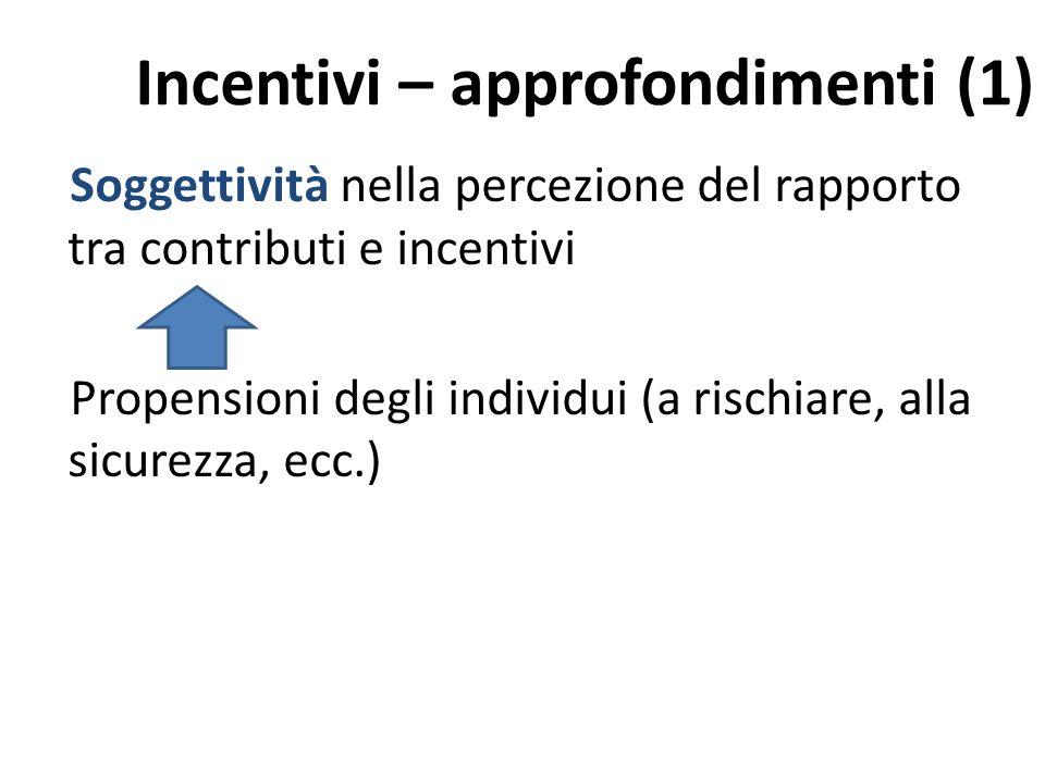 Incentivi – approfondimenti (1)