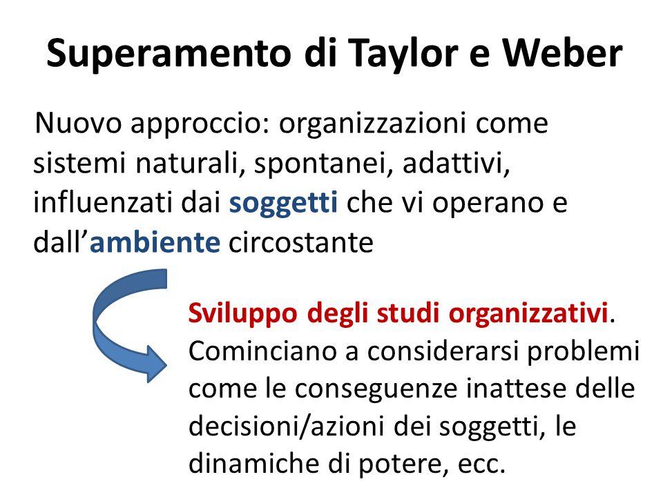 Superamento di Taylor e Weber