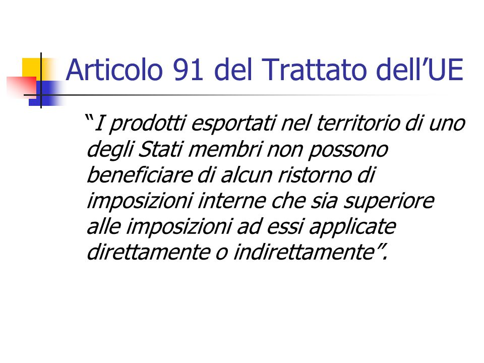 Articolo 91 del Trattato dell'UE