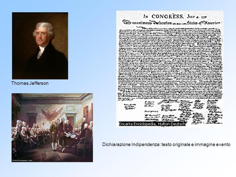 Dichiarazione Indipendenza: testo originale e immagine evento