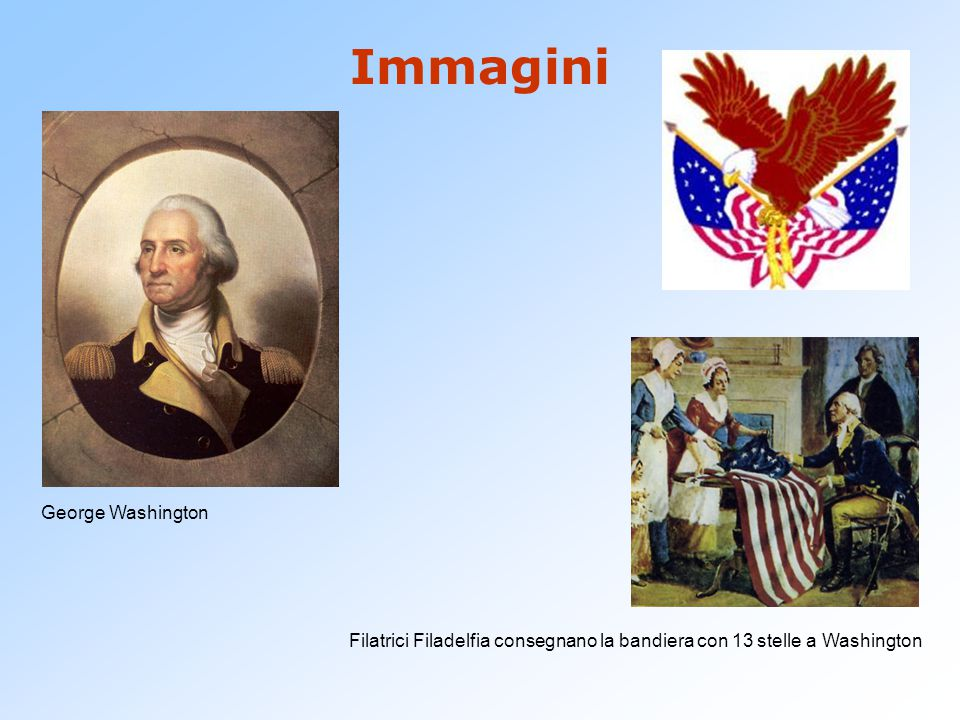 Filatrici Filadelfia consegnano la bandiera con 13 stelle a Washington