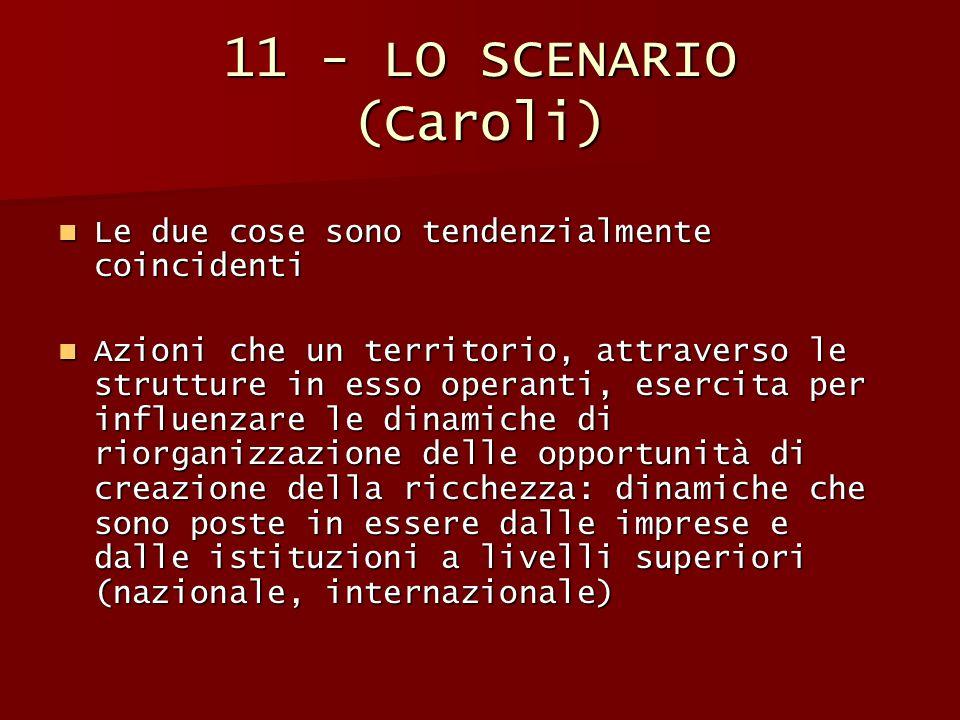 11 - LO SCENARIO (Caroli) Le due cose sono tendenzialmente coincidenti