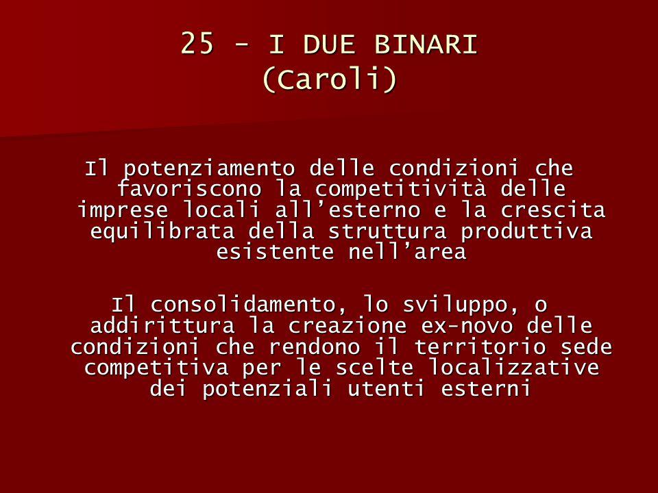 25 - I DUE BINARI (Caroli)