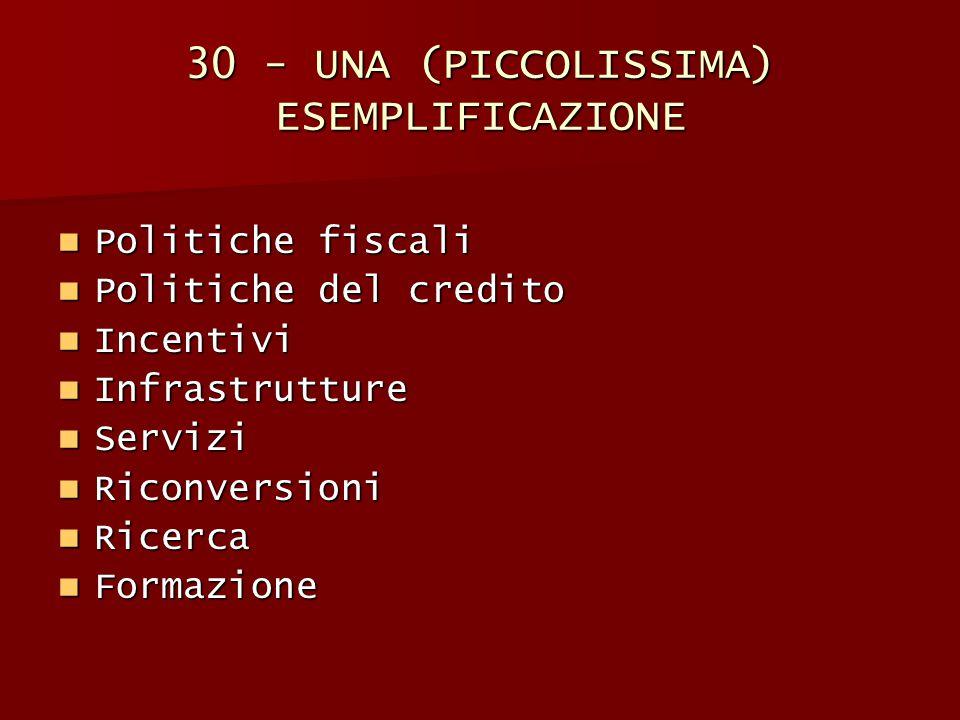 30 - UNA (PICCOLISSIMA) ESEMPLIFICAZIONE