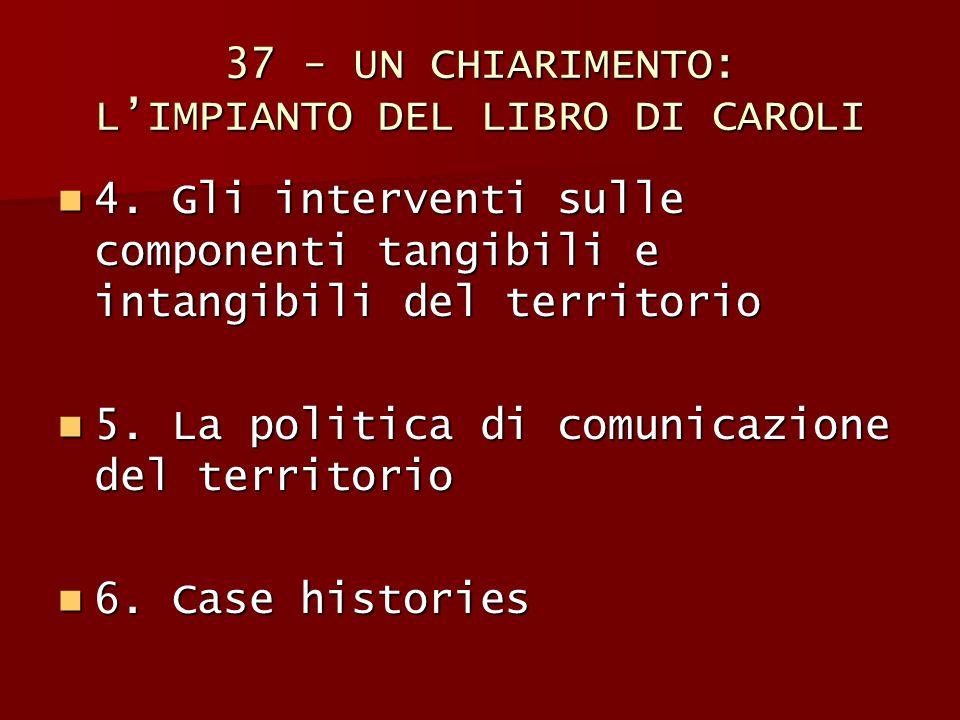 37 - UN CHIARIMENTO: L'IMPIANTO DEL LIBRO DI CAROLI