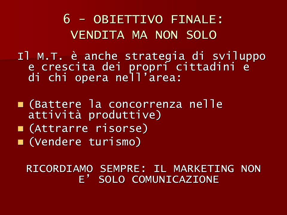 6 - OBIETTIVO FINALE: VENDITA MA NON SOLO