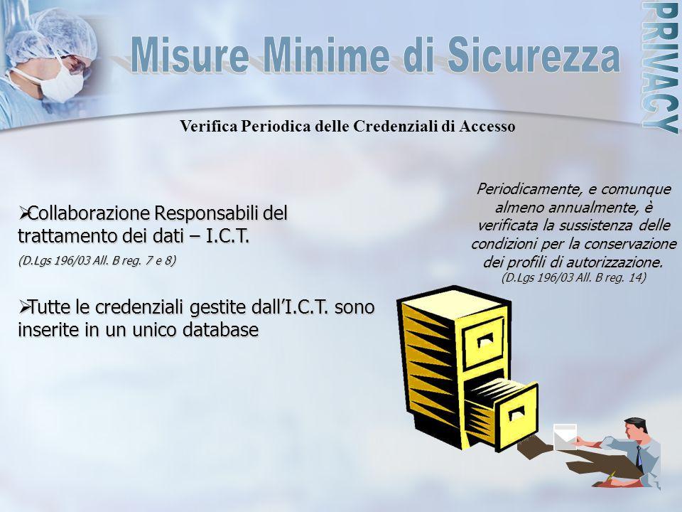 Verifica Periodica delle Credenziali di Accesso