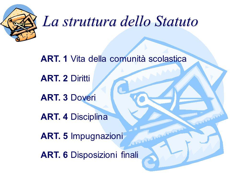 La struttura dello Statuto