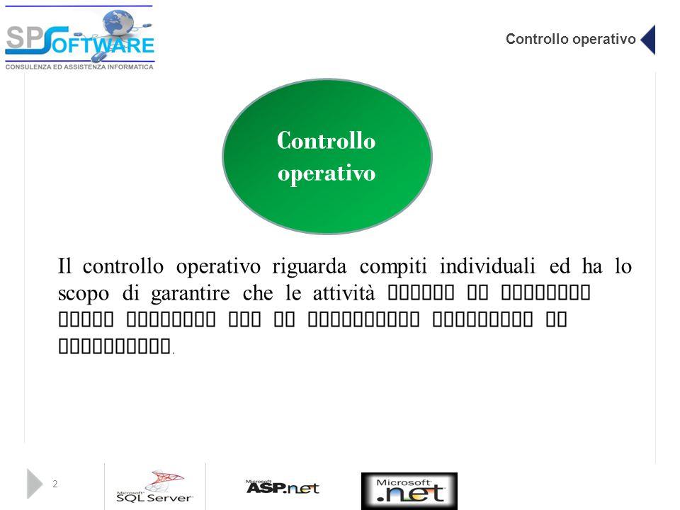 Controllo operativo Controllo operativo.
