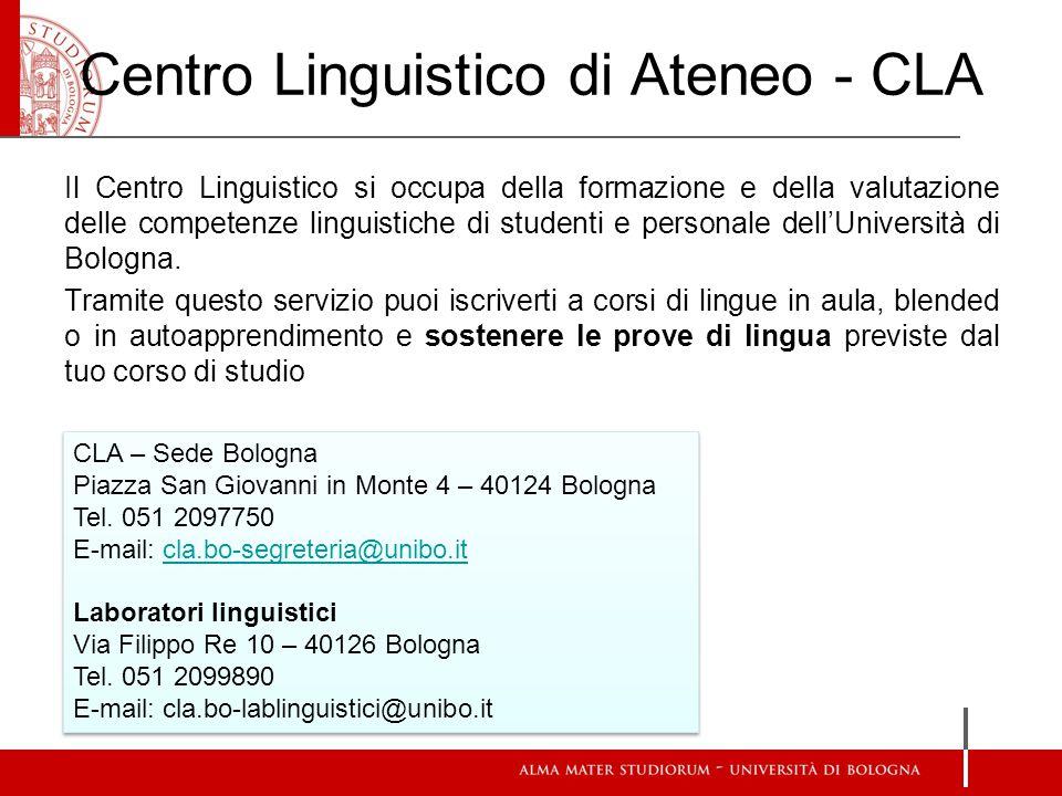 Centro Linguistico di Ateneo - CLA