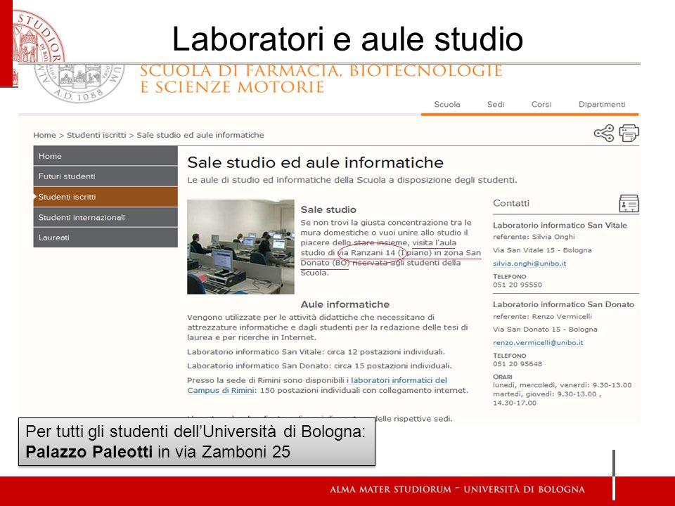 Laboratori e aule studio