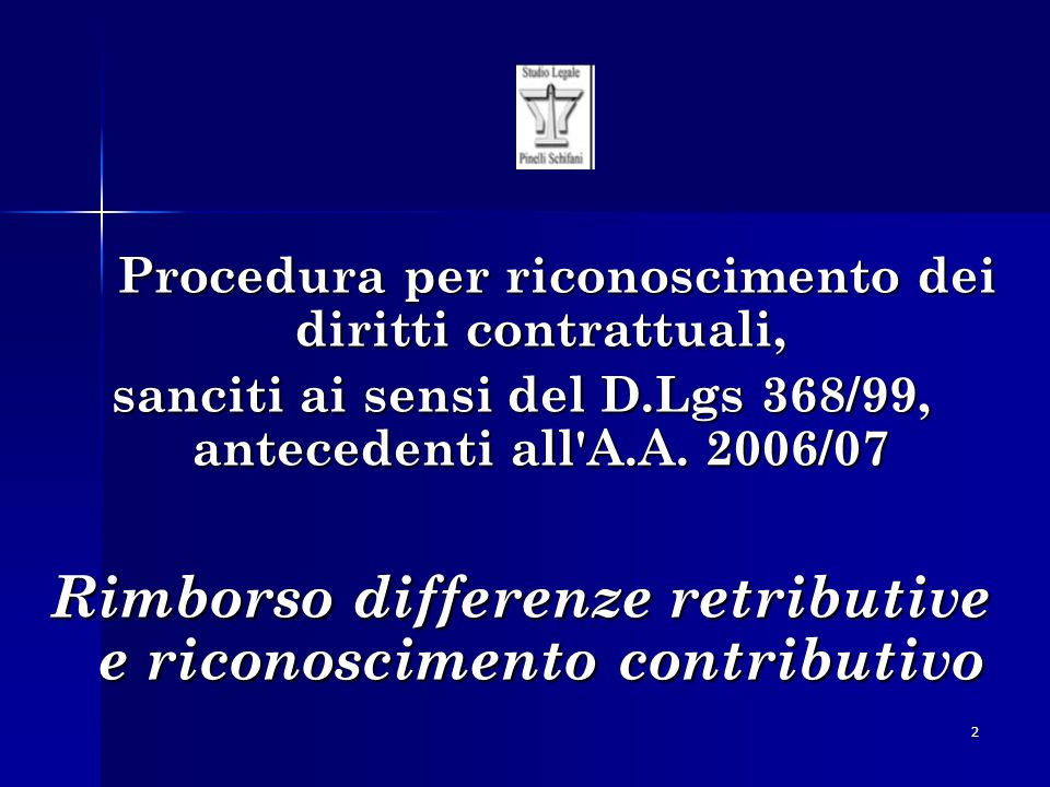 Rimborso differenze retributive e riconoscimento contributivo
