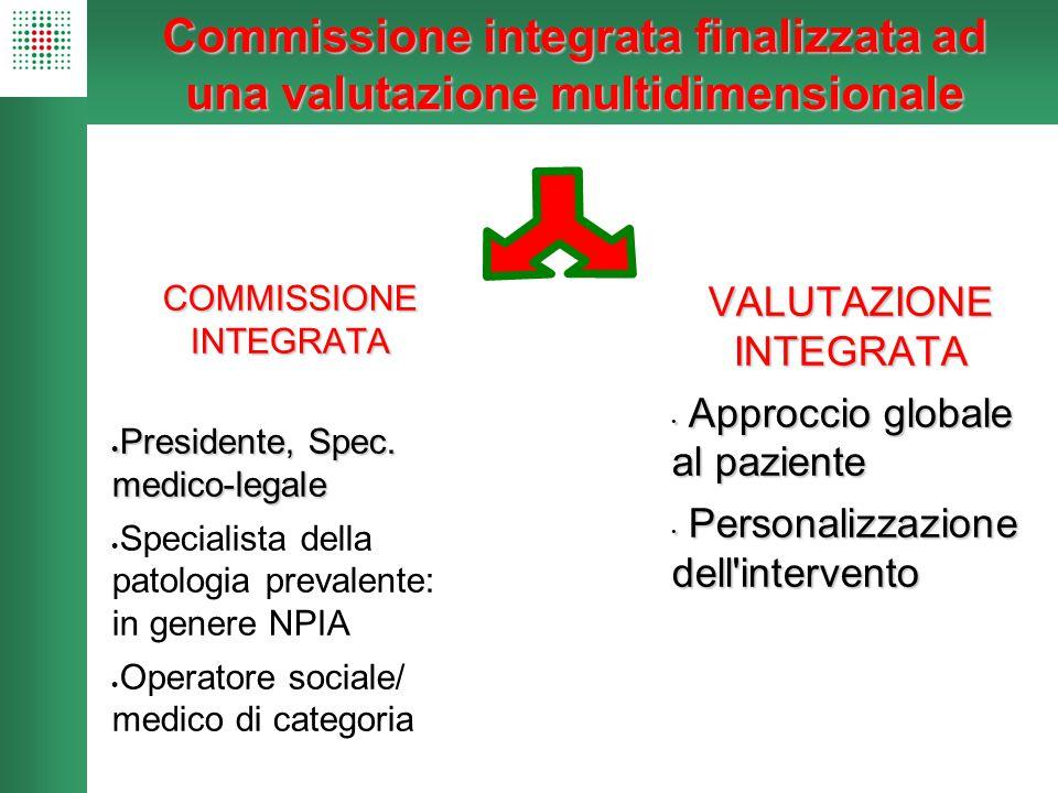 Commissione integrata finalizzata ad una valutazione multidimensionale