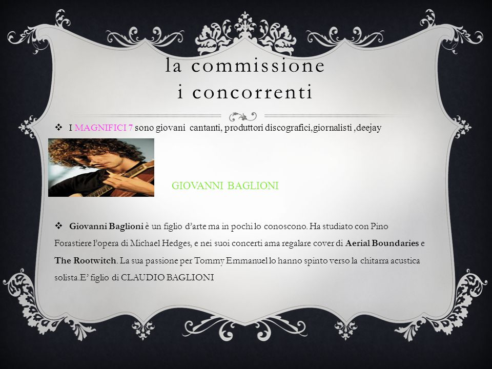 la commissione i concorrenti