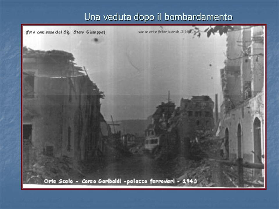 Una veduta dopo il bombardamento