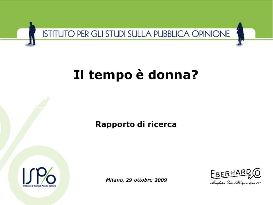 Il tempo è donna Rapporto di ricerca Milano, 29 ottobre 2009