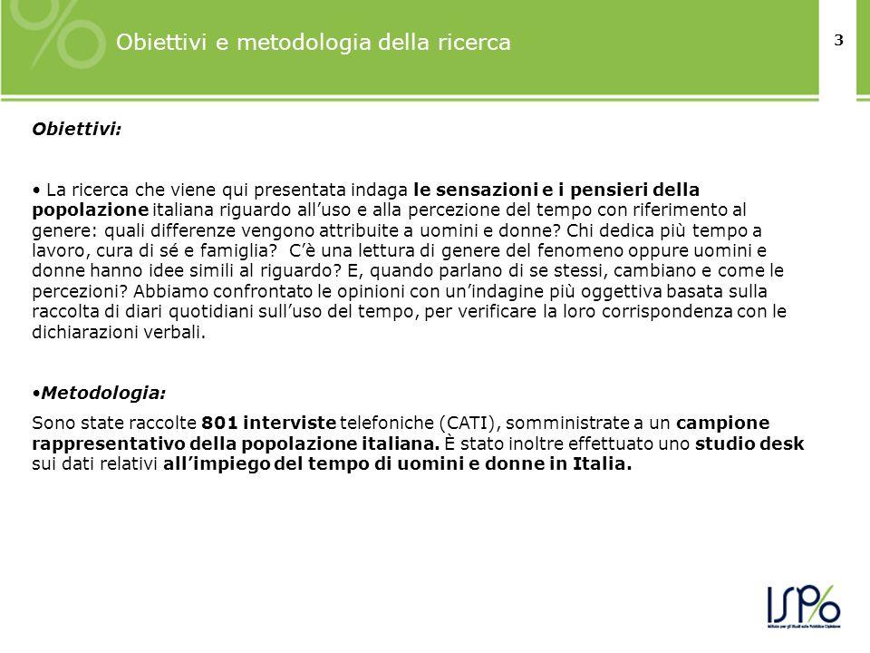 Obiettivi e metodologia della ricerca