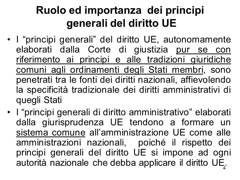 Ruolo ed importanza dei principi generali del diritto UE