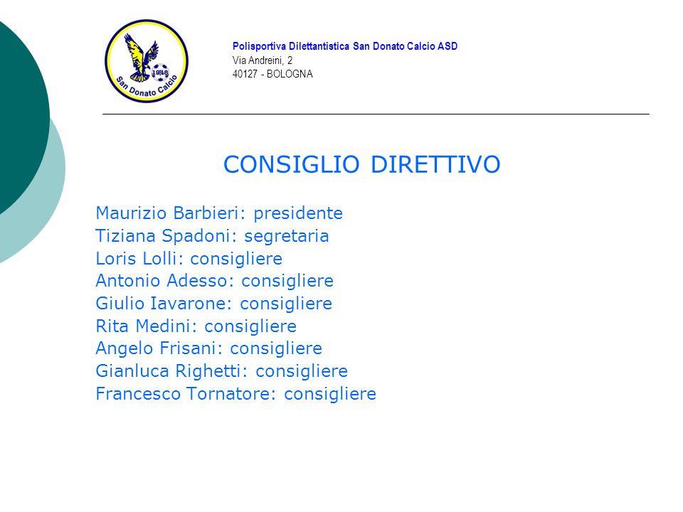 CONSIGLIO DIRETTIVO Maurizio Barbieri: presidente