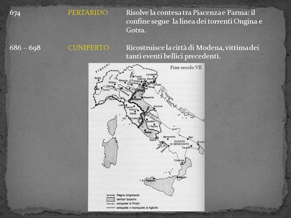 674. PERTARIDO. Risolve la contesa tra Piacenza e Parma: il