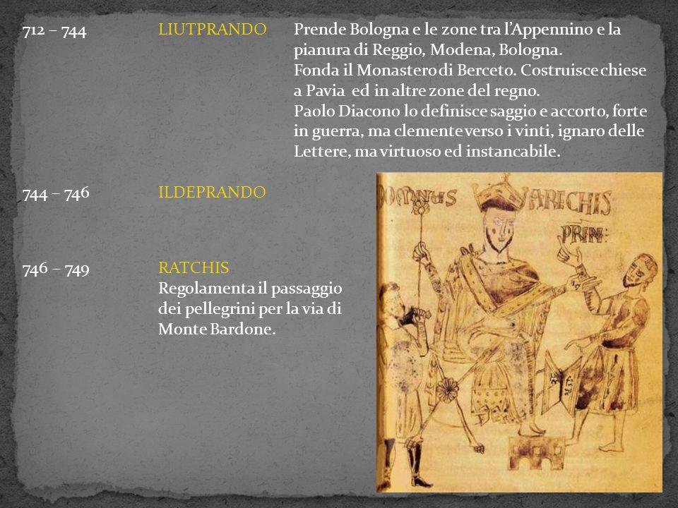 712 – 744 LIUTPRANDO Prende Bologna e le zone tra l'Appennino e la