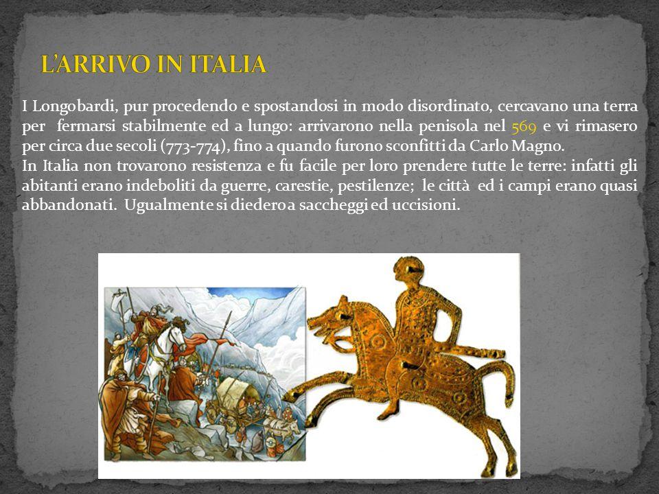 L'ARRIVO IN ITALIA
