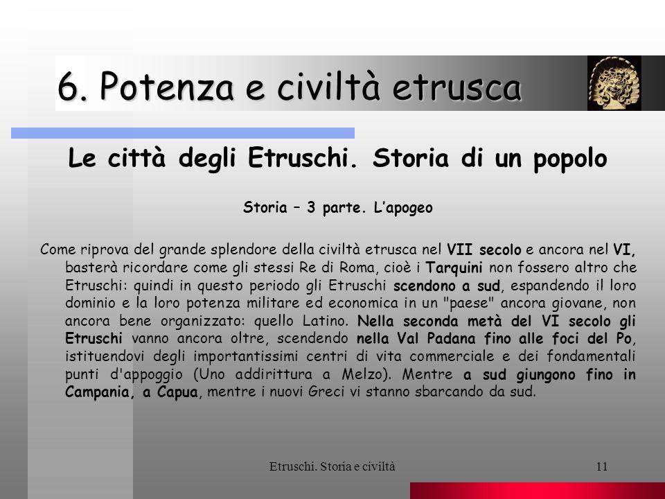 6. Potenza e civiltà etrusca